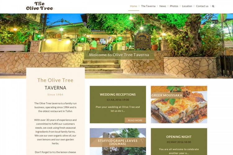 the olive tree taverna - our new website and blog