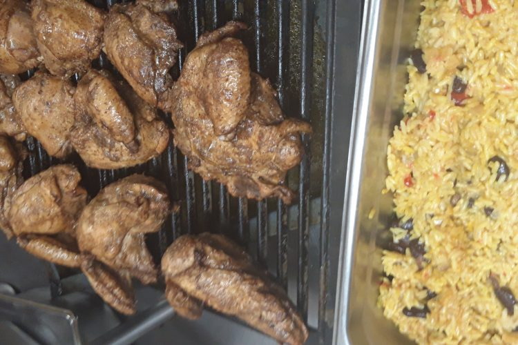 the olive tree taverna - jamaican smoked jerk chicken